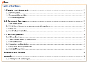 Service Level Agreement Sla Examples And